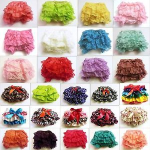Baby-Girl-Infant-Lace-Ruffle-Diaper-Covers-Bloomers-0-6-6-12-M