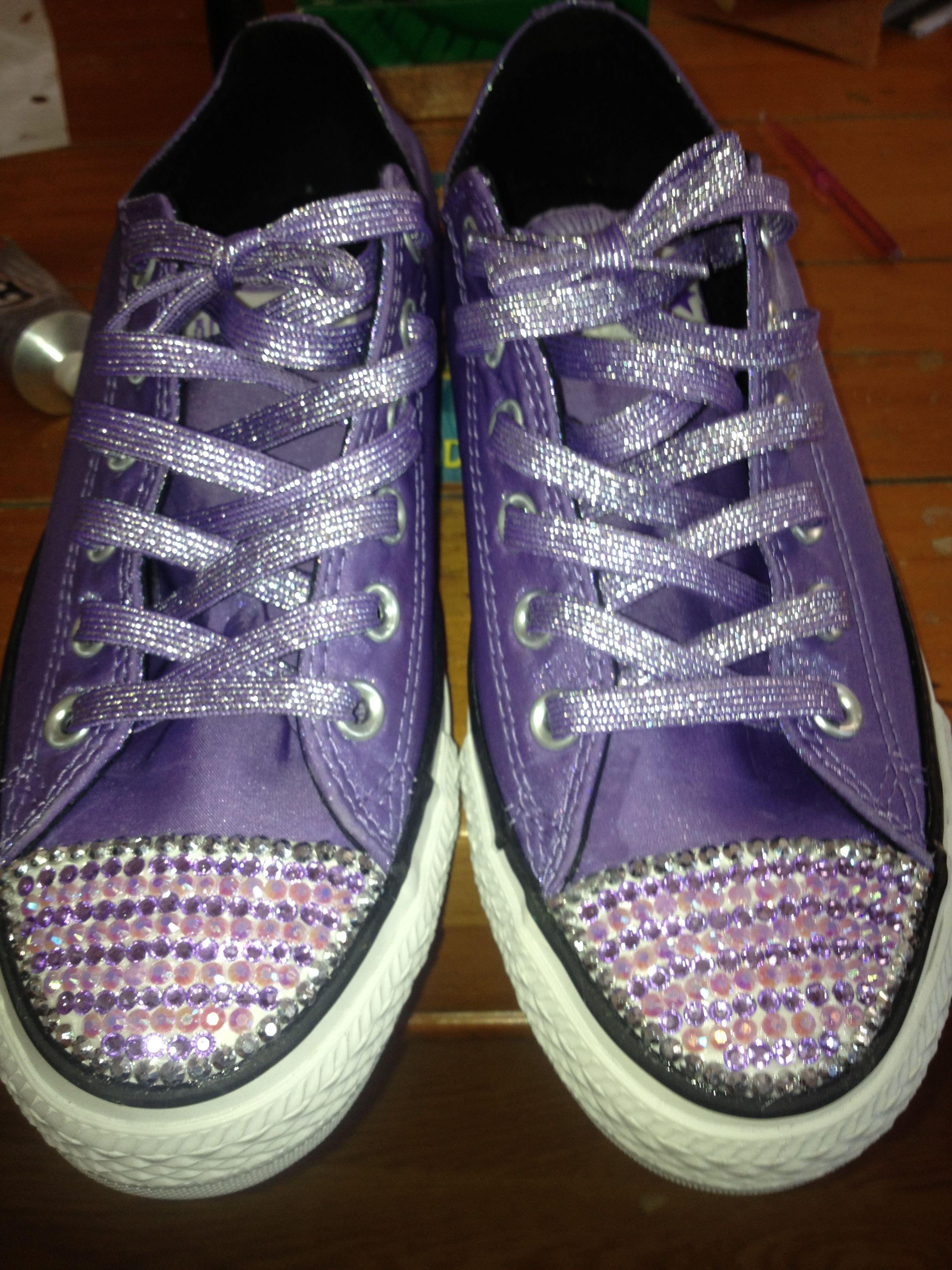 Diy Rhinestone Converse Shoes Dress Up Shoe Ideas 148b48691
