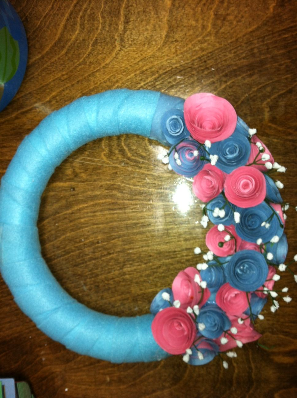 Part Of The Wreath I Started Making Made The Flowers Out Of Colored
