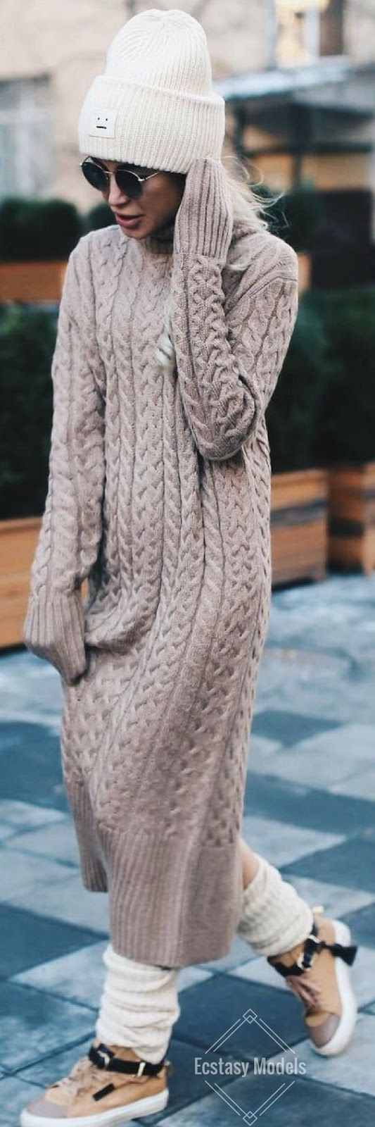 Fashionable Outfit | Cozy Winter Sweater Dress