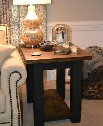 Farmhouse style side or end table for living room