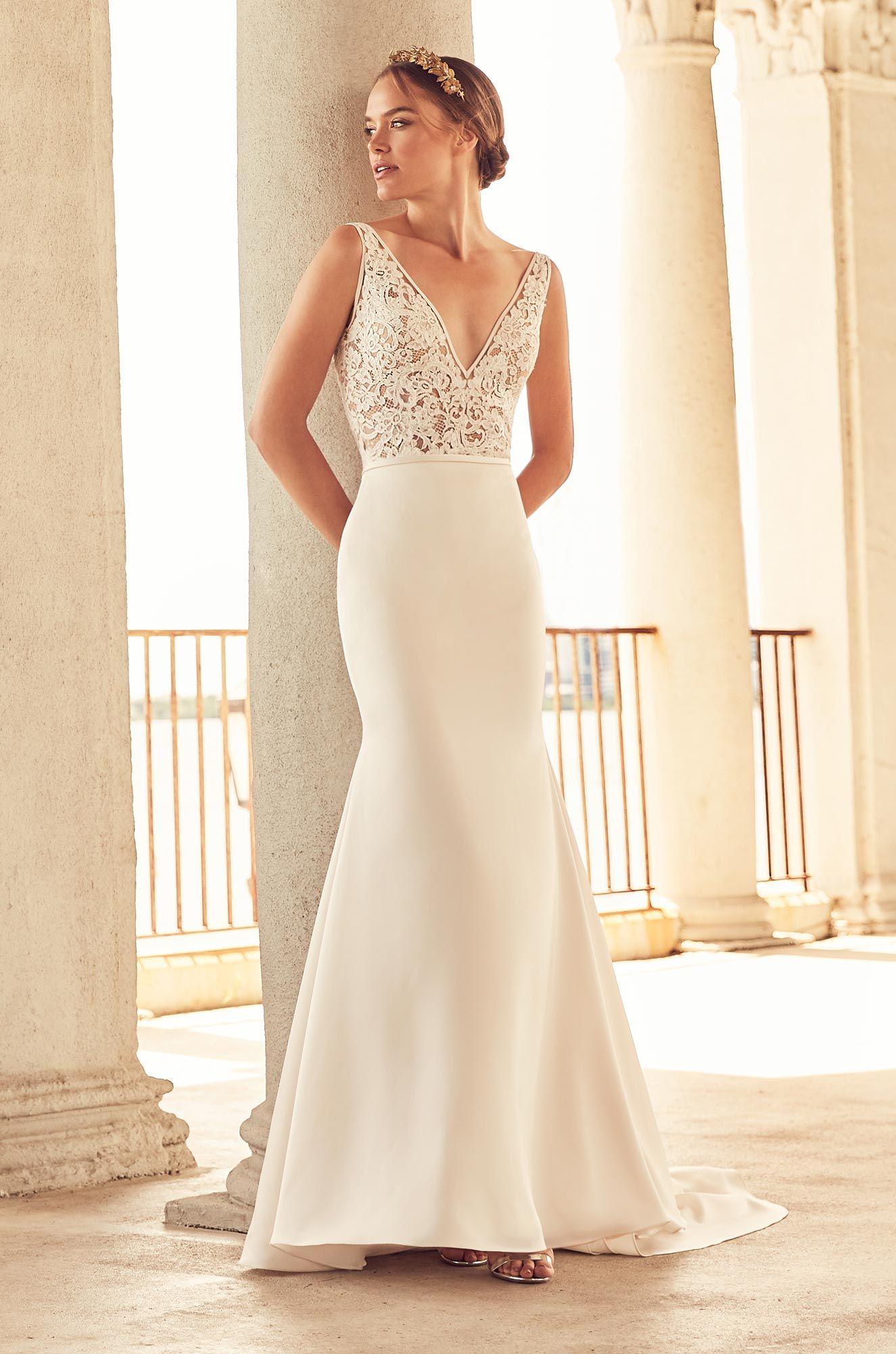 924f9c841 Sheer Bodice Wedding Dress - Style  4787 in 2019