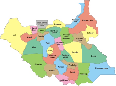 South Sudan Wikipedia Mapping With Everyday Life Pinterest - Republic of the sudan map