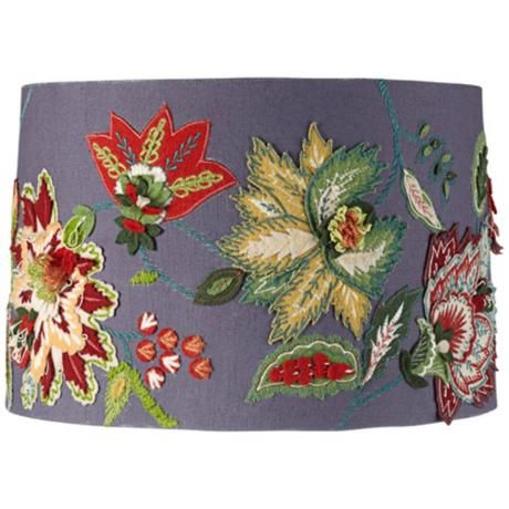 Embroidered lamp shade google search lamp shades pinterest embroidered lamp shade google search aloadofball Images