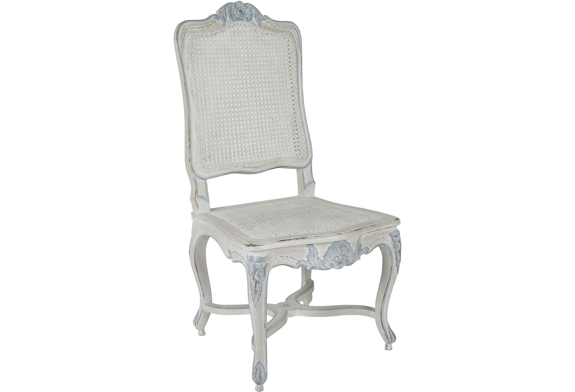 LARS BOLANDER French Blue & White Side Chair Chairs
