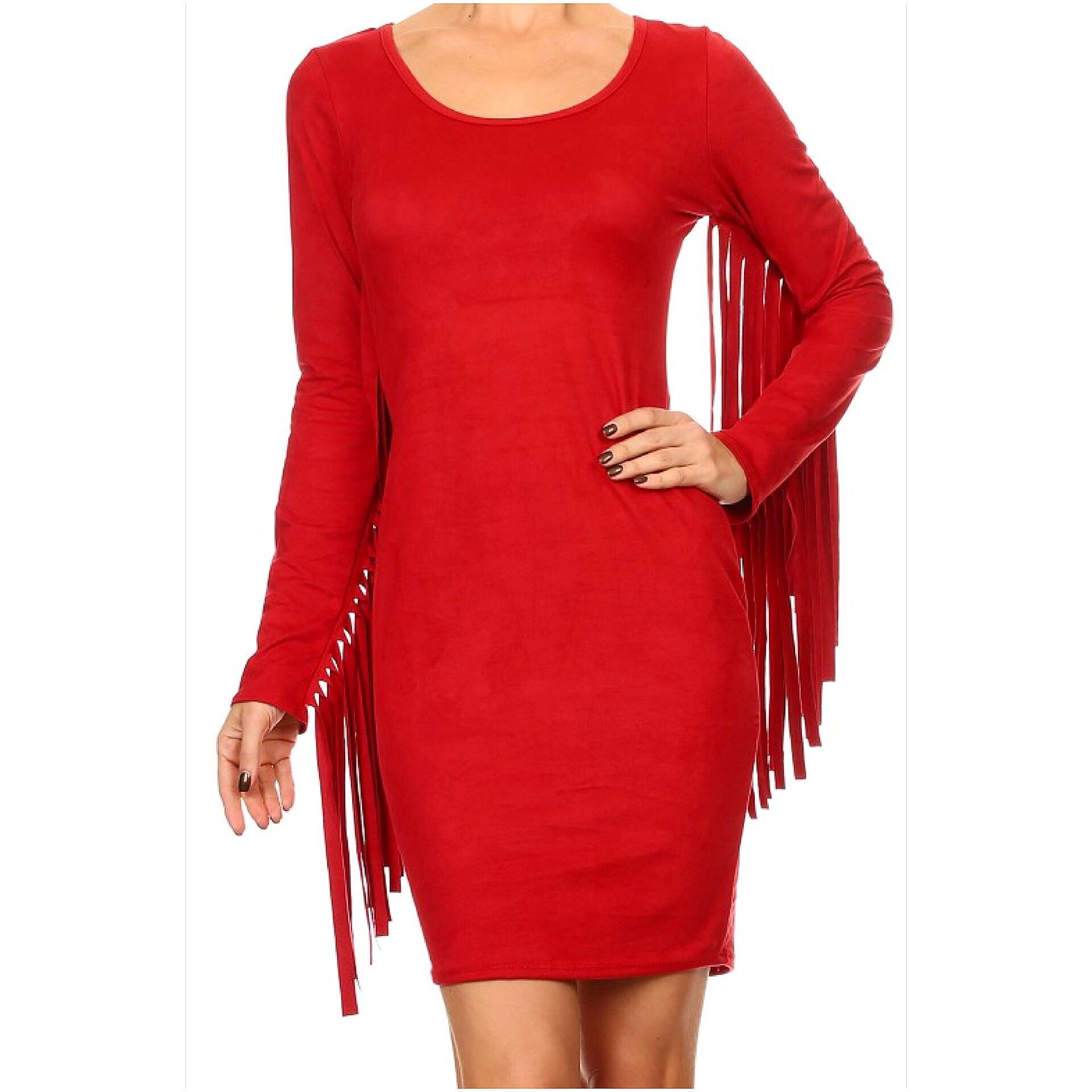 Fringe Suede Dress