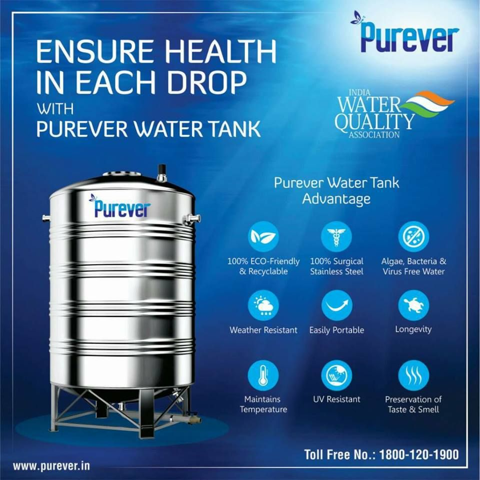 Pin By Purever Technix On Purever Stainless Steel Water Tank Steel Water Tanks Water Tank Uv Resistant