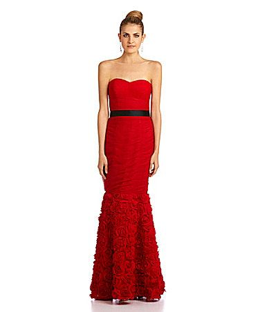 a65ba995c068 JS Collections Strapless Ruched Gown #Dillards | Prom Queen ...