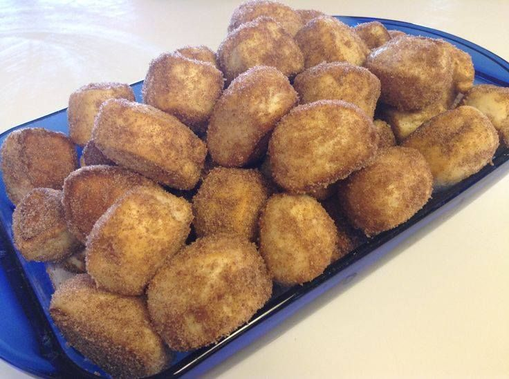 Ingredients: 1 Roll Of Small Canned Biscuits 1/4 Cup Sugar
