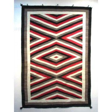 Antique Eyedazzler Navajo Rug At