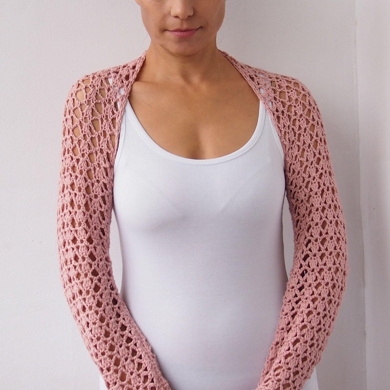 Crochet shrug pattern, woman crochet shrug, long sleeves shrug ...