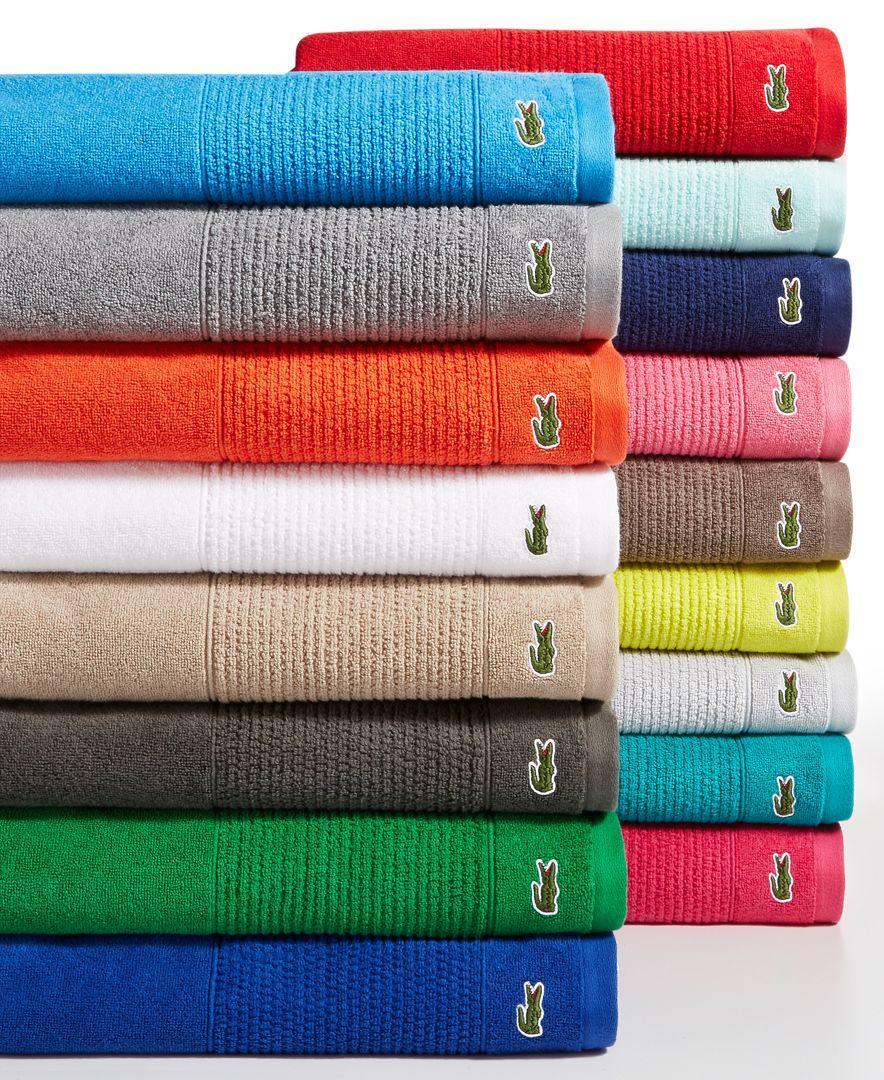 Lacoste Legend 21 Cotton Bath Towels Towel Collection Supima Cotton