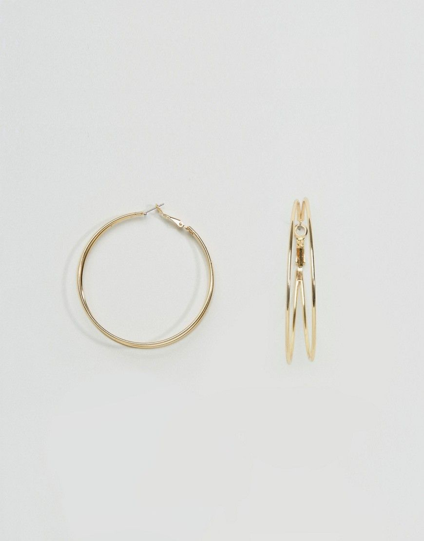 Get this Asos's earring now! Click for more details. Worldwide shipping. ASOS Double Loop Hoop Earrings - Gold: Earrings by ASOS Collection, Gold-tone finish, Double hoop design, Latch back, 100% Steel. Score a wardrobe win no matter the dress code with our ASOS Collection own-label collection. From polished prom to the after party, our London-based design team scour the globe to nail your new-season fashion goals with need-right-now dresses, outerwear, shoes and denim in the coolest shapes…