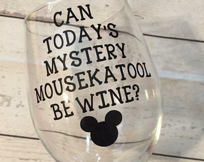 DISNEY INSPIRED; Finding NEMO Wine Glass; Funny disney gift; disney mugs