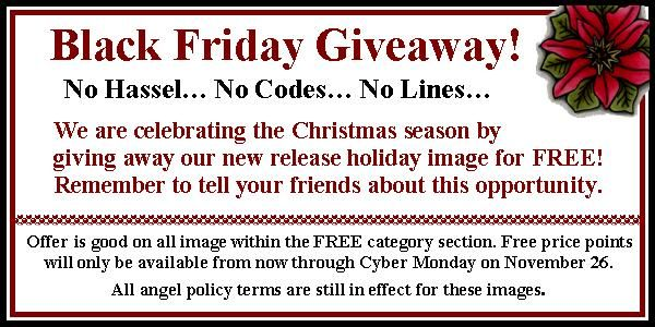 Don't forget! Cedar Chest Designs is giving away free digital images on Black Friday.