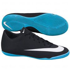 9b97f11a1f77 NIKE MERCURIAL VICTORY V CR7 IC JR INDOOR SOCCER SHOES KIDS Black Neo  Turquoise