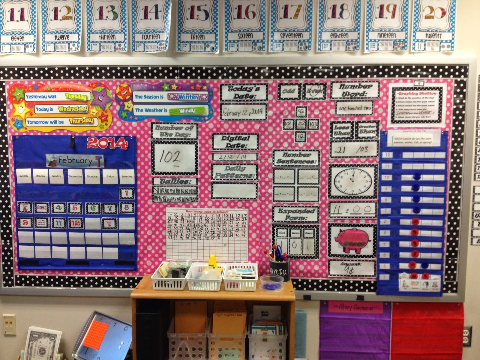 Kindergarten Calendar Wall : Check out her math focus wall on livelaughteachfirstgrade