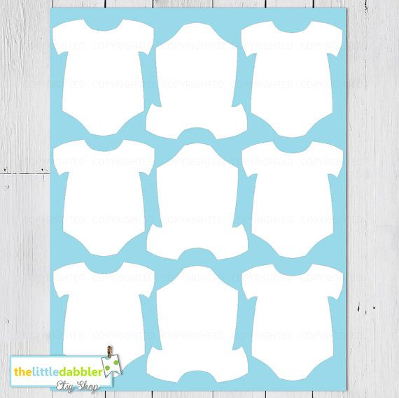 free printable baby onesie template cards in 2018 pinterest