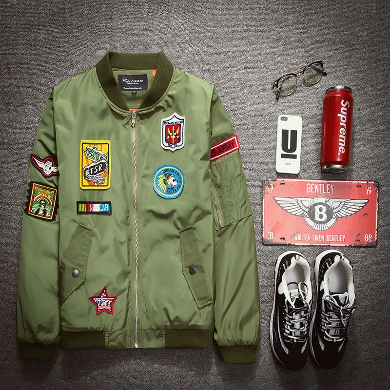 Find More Parkas Information about 2016 New Autumn new fashion uniform jacket outerwear male embroidery badge jacket lovers jacket,High Quality jacket outerwear,China jacket shawl Suppliers, Cheap badge crown from Welcome visit Store - Good Quality Products Store on Aliexpress.com