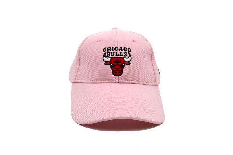 Mens   Womens NBA Chicago Bulls Alternate Logo Velcro Back Basketball  Adjustable Cap - Pink 3c3ece0d513