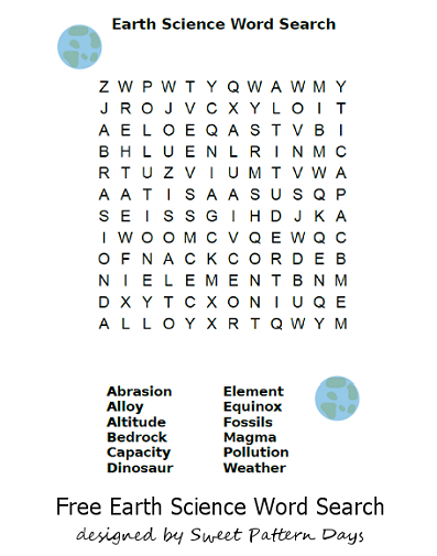 image regarding Science Word Search Printable known as Environment Science Term Glance Printable Recreation Printables