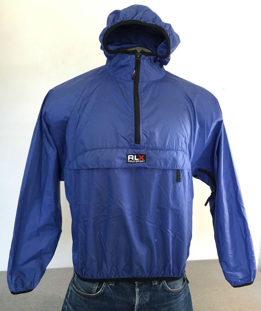 76278fb0 Details about Polo Sport Men's Size Large Blue Windbreaker ...