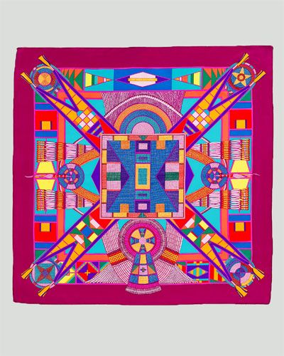 Hermes has great colorful scarves