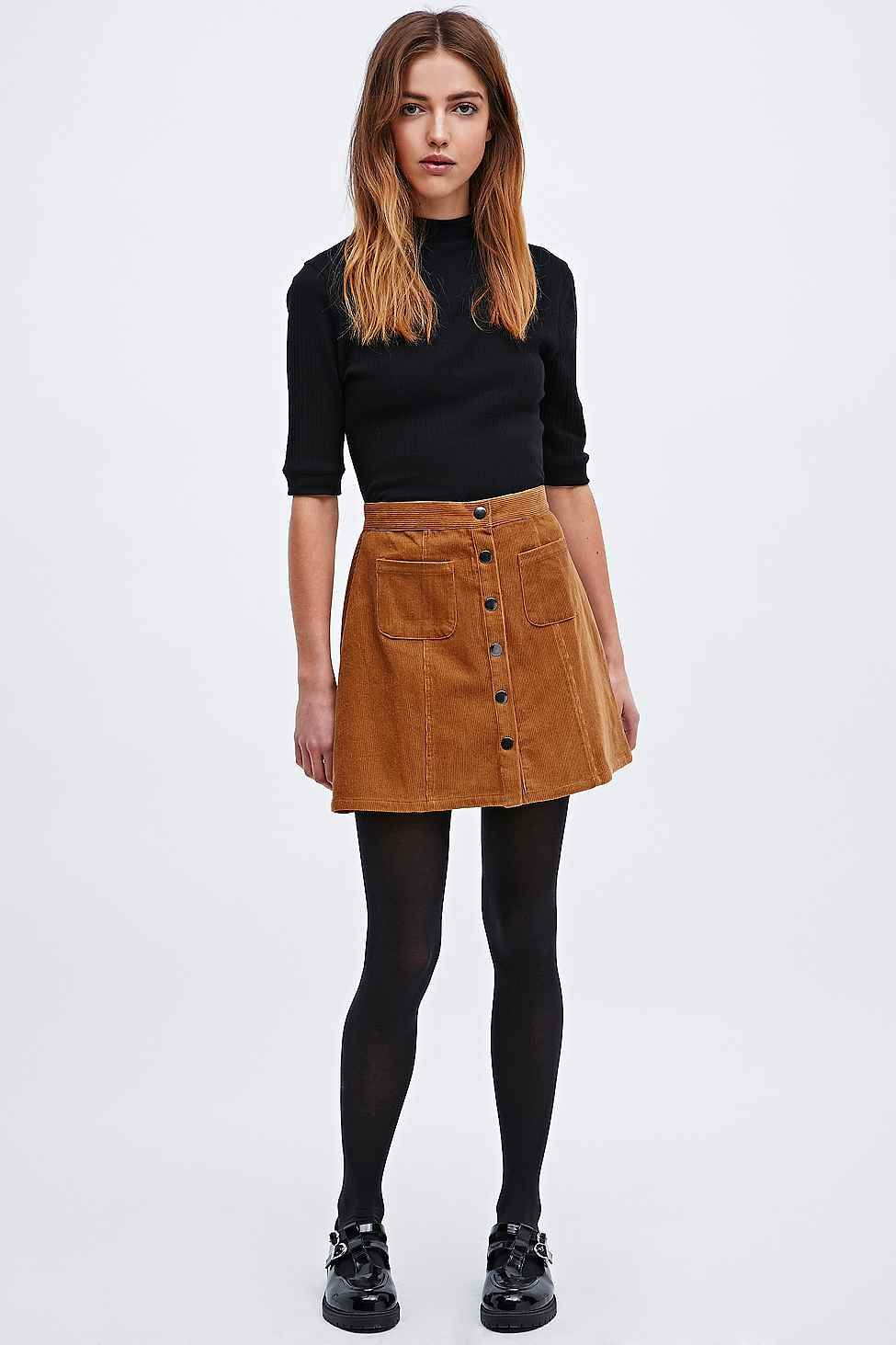 Cooperative - Jupe trapu00e8ze en velours | appearance. | Pinterest | Cord Clothes and Suede skirt