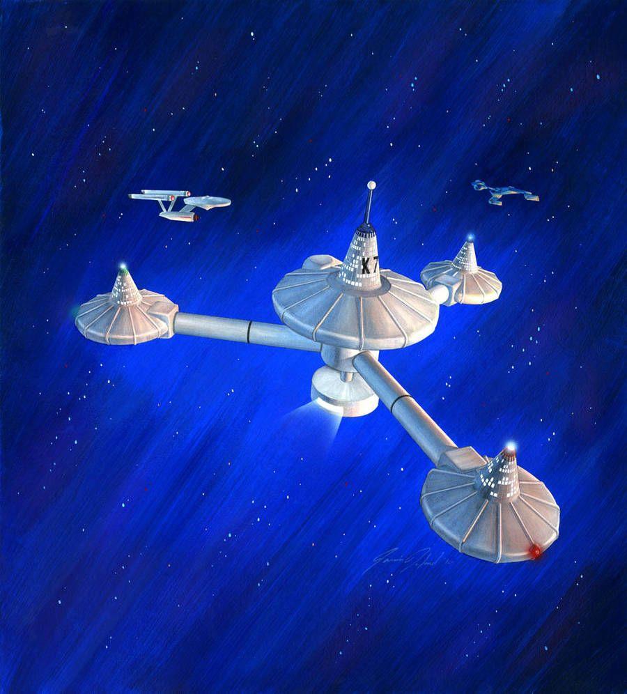 K-7 Space Station by jamiehood | Star trek models, Star ...