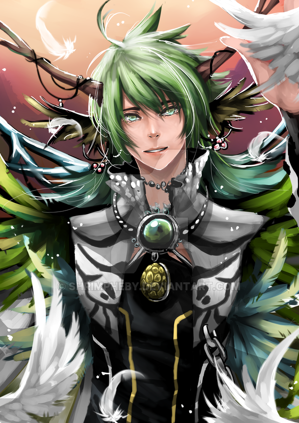 God Of Life By Shrimpheby Http Shrimpheby Deviantart Com Anime Green Hair Anime Prince Digital Art Fantasy