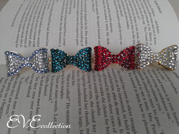 Sparkle Bow Double Ring by EVEstyling on Etsy, $18.00