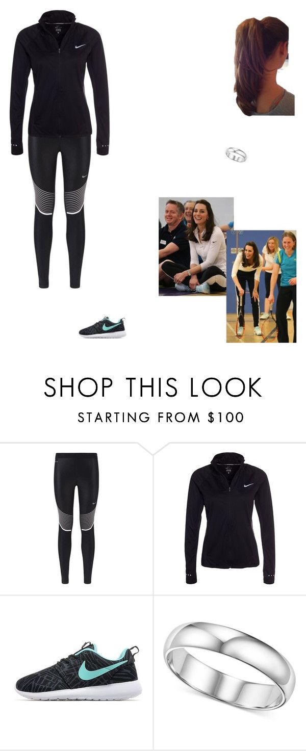 """""""Participating in """"Tennis on the Road"""""""" by kleinnicole ❤ liked on Polyvore featuring NIKE"""