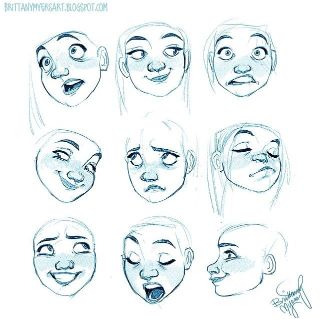 Britt Emotions Drawing Expressions Character Design Character Drawing