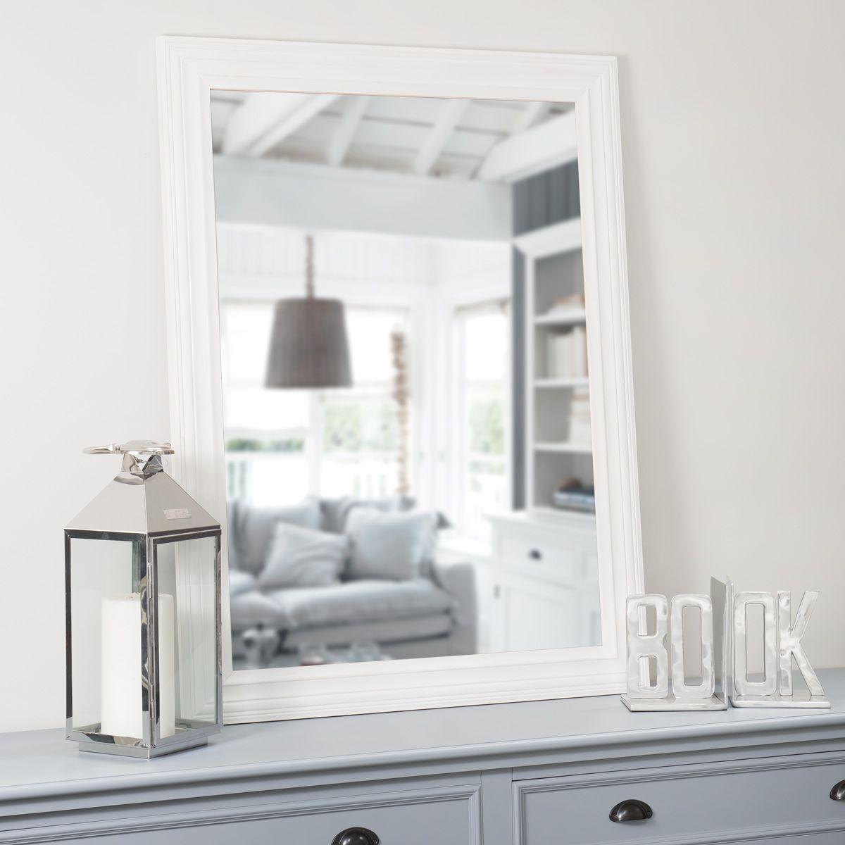 Specchio Napoli bianco 120x90 Arredamento