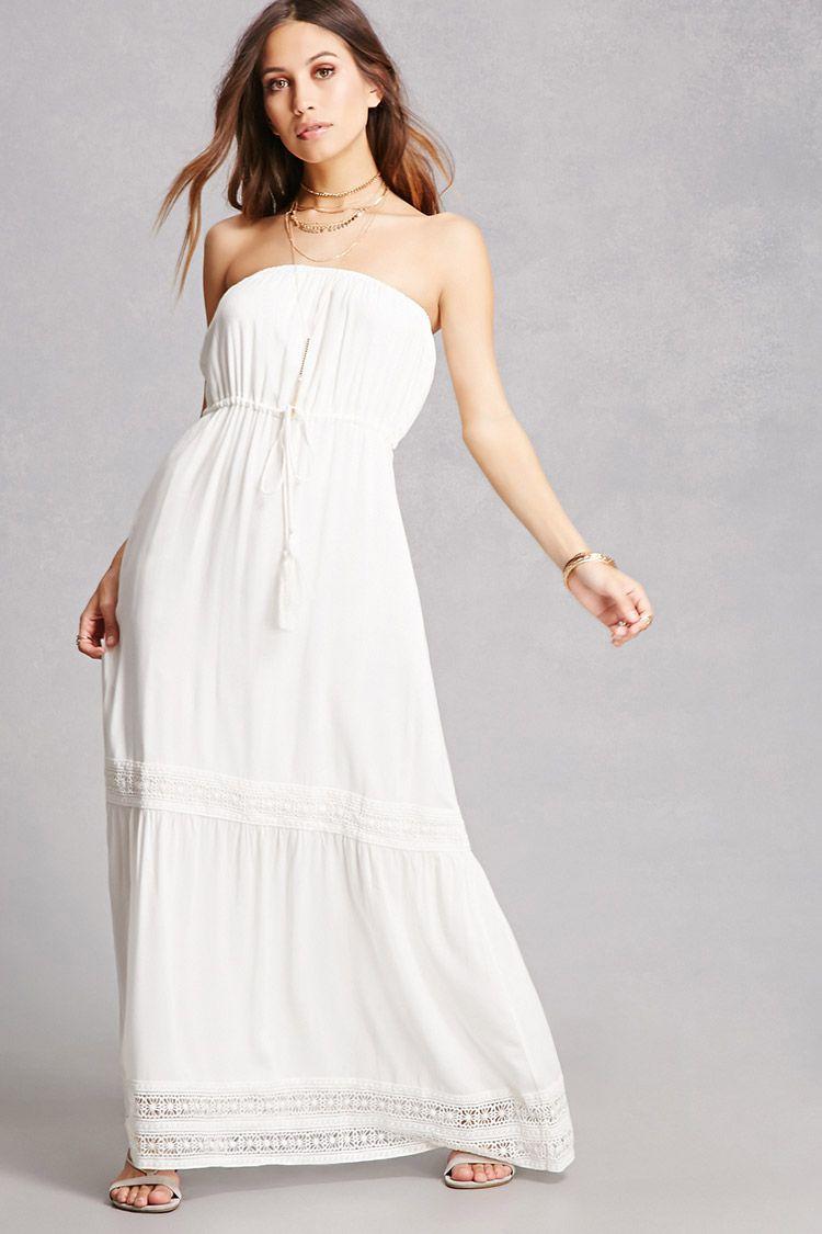 Strapless maxi dress women style pinterest