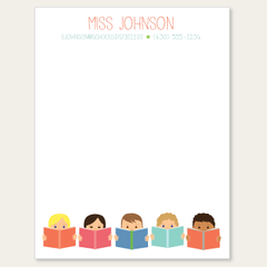 personalized teacher notepad kids reading from sarah abraham