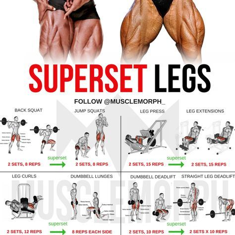 legs workout superset gym bodybuilding build muscle
