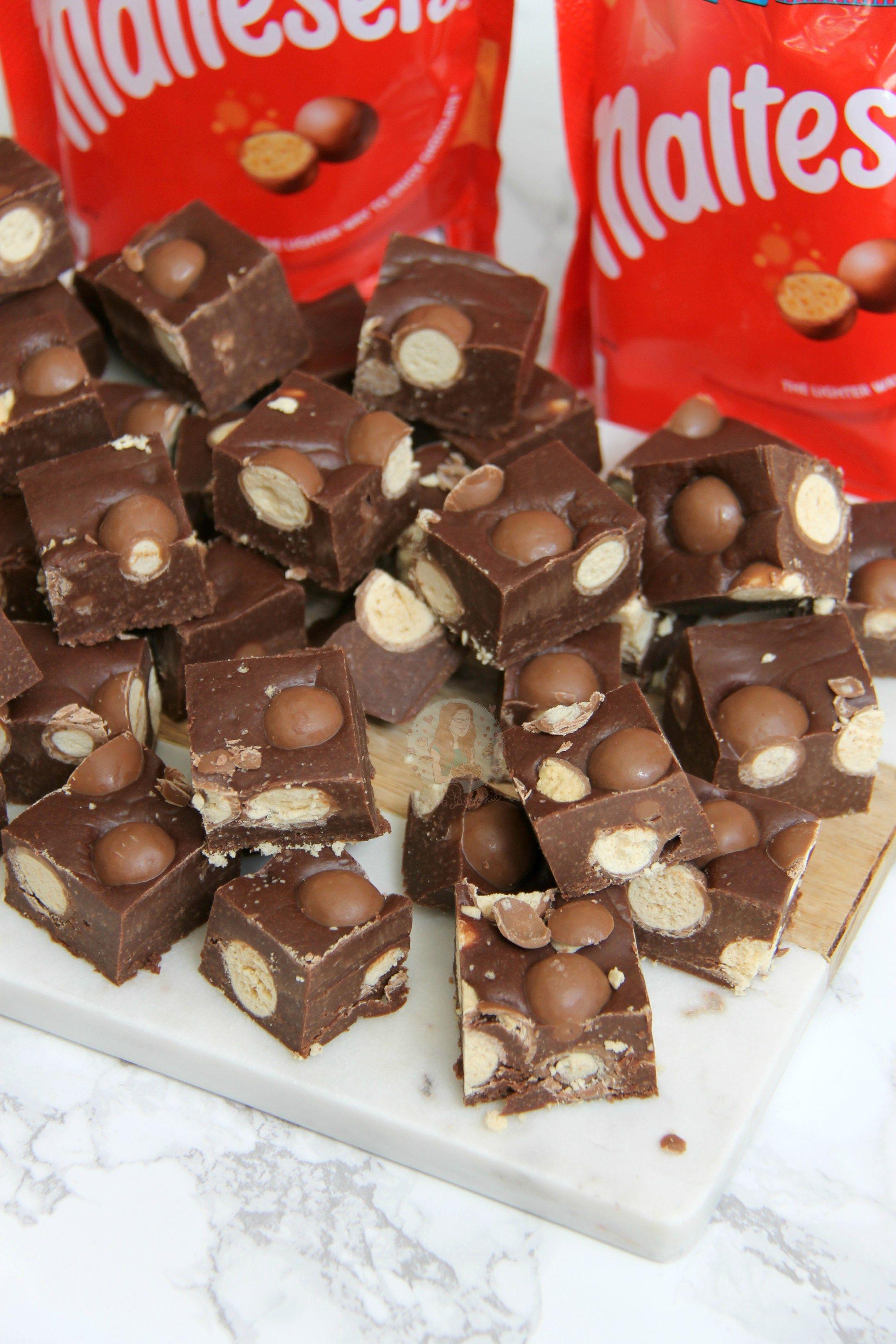 Easy Condensed Milk Malt Chocolate Fudge Full Of Maltesers Quick Delicious No Sugar Thermometers My Favo Fudge Recipes Fudge Recipes Chocolate Milk Recipes