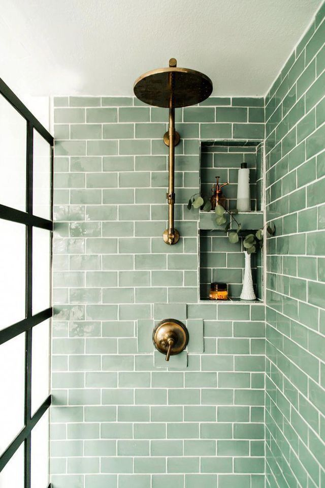 Photo of sage green tile