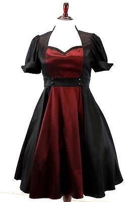 NEW womens vtg 50s inspired burgundy CHIC STAR contrast swing dress XXL 1X 46