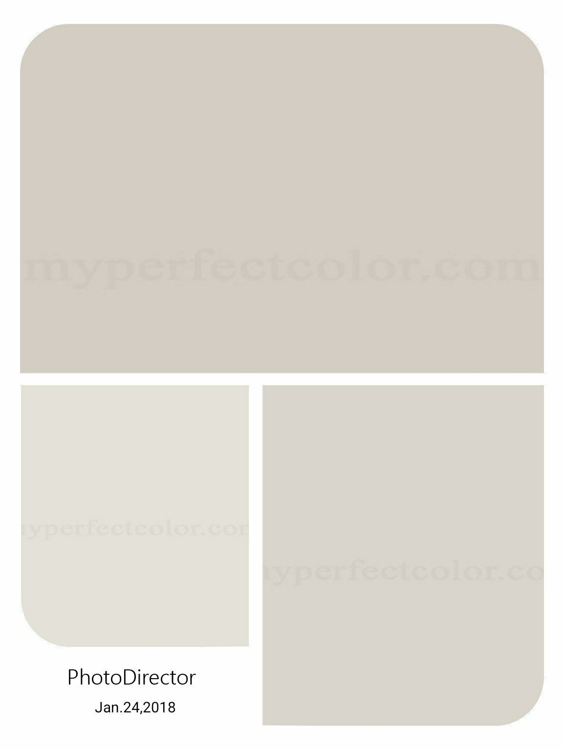 Benjamin Moore Silver Satin Balboa Mist And Collingwood