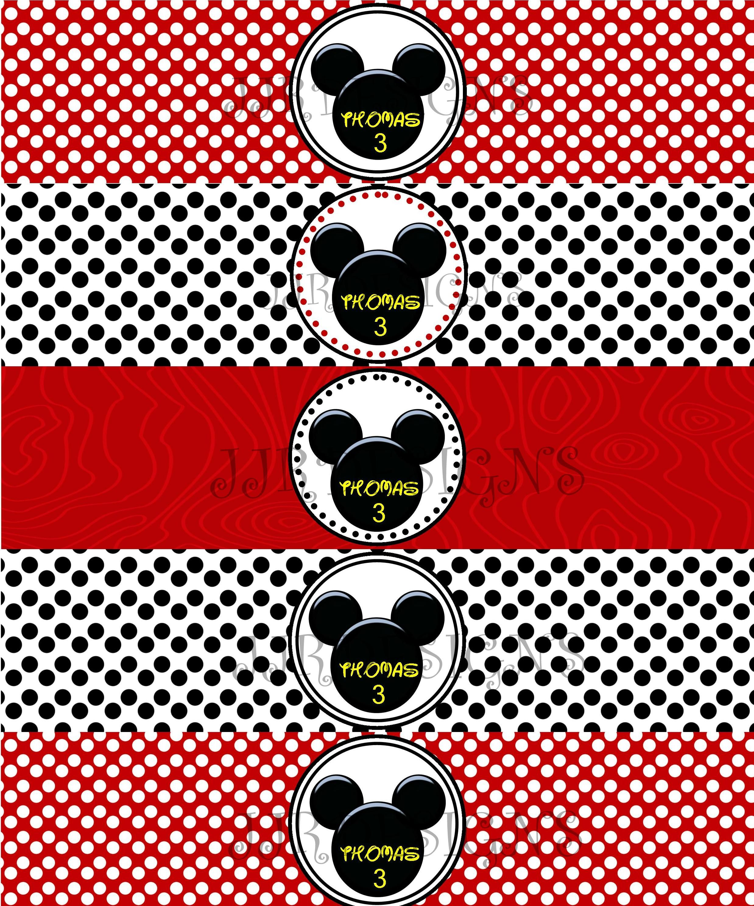 MICKEY MOUSE- WATER BOTTLE LABEL | Minnie Mouse Birthday ...