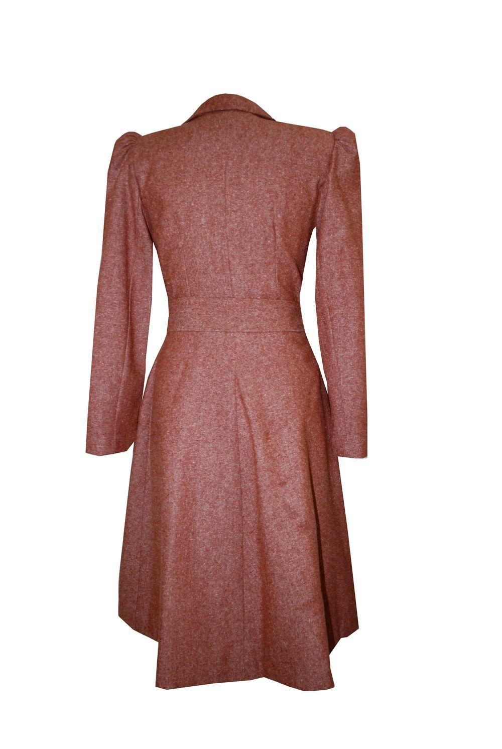 Tara Starlet 1940s 40s Style: Tara Starlet 40s Style Coat BACK