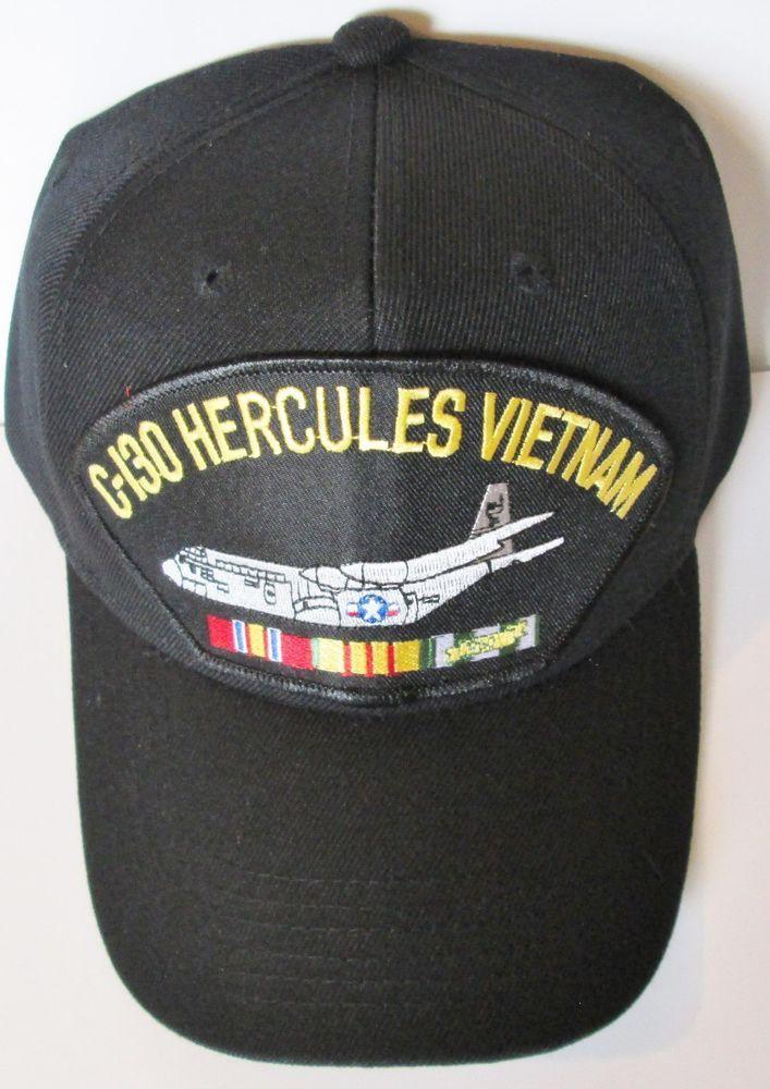 df73cc63b C-130 HERCULES VIETNAM W/ CAMPAIGN RIBBON BALL CAP/HAT #MILPRO ...