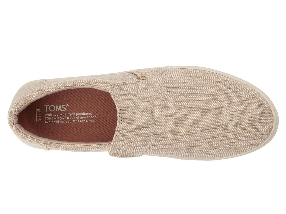 cb06281f6ad TOMS Lomas Slip-On Men s Slip on Shoes Natural Heritage Canvas ...