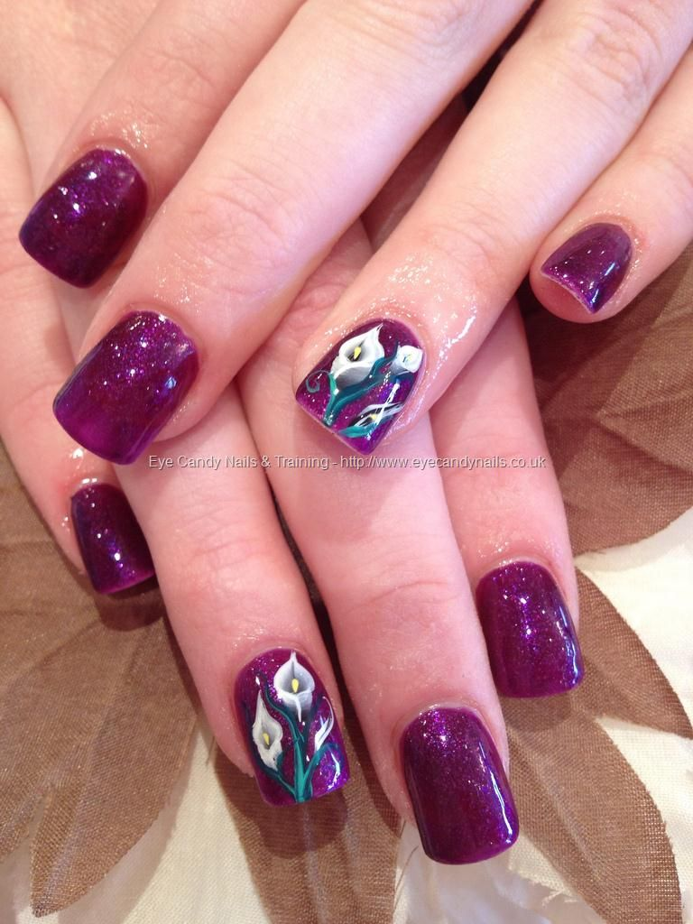 Nail Art For February Nails Training One Stroke By Elaine Moore On 25