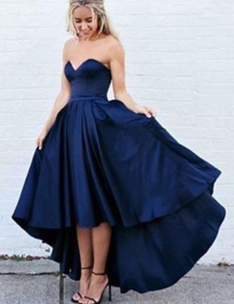 Prom dressesevening dressparty dressesnavy blue aline sweetheart