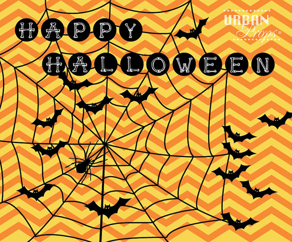 Halloween Backdrop, Spider Web Chevron, 6 Ft X 5 Ft Vinyl Backdrop - halloween backdrop