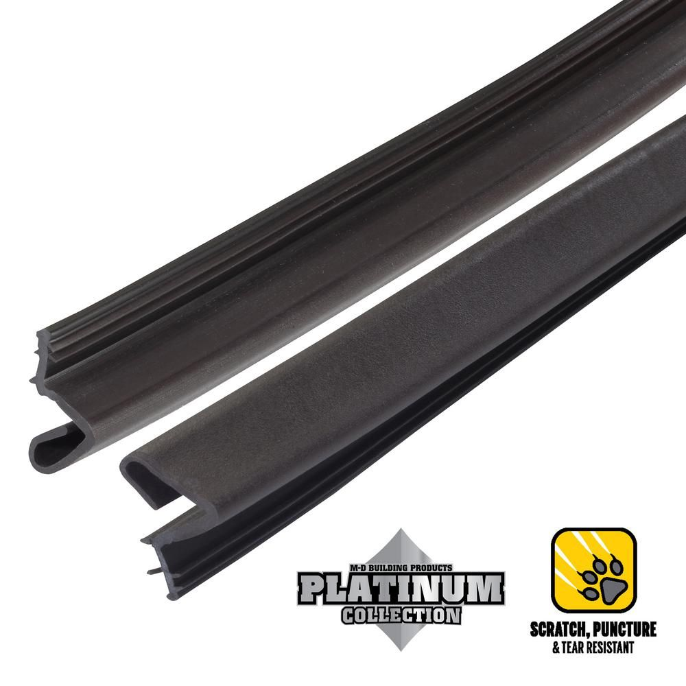 84 In Platinum Brown Collection Door Weatherstrip Replacement 91891 M D Building Products Weather Stripping Door Weather Stripping
