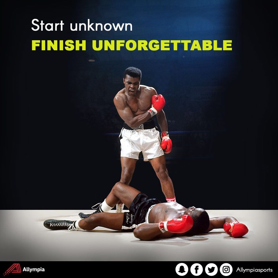 Be an Allympian and Start from the bottom and finish at
